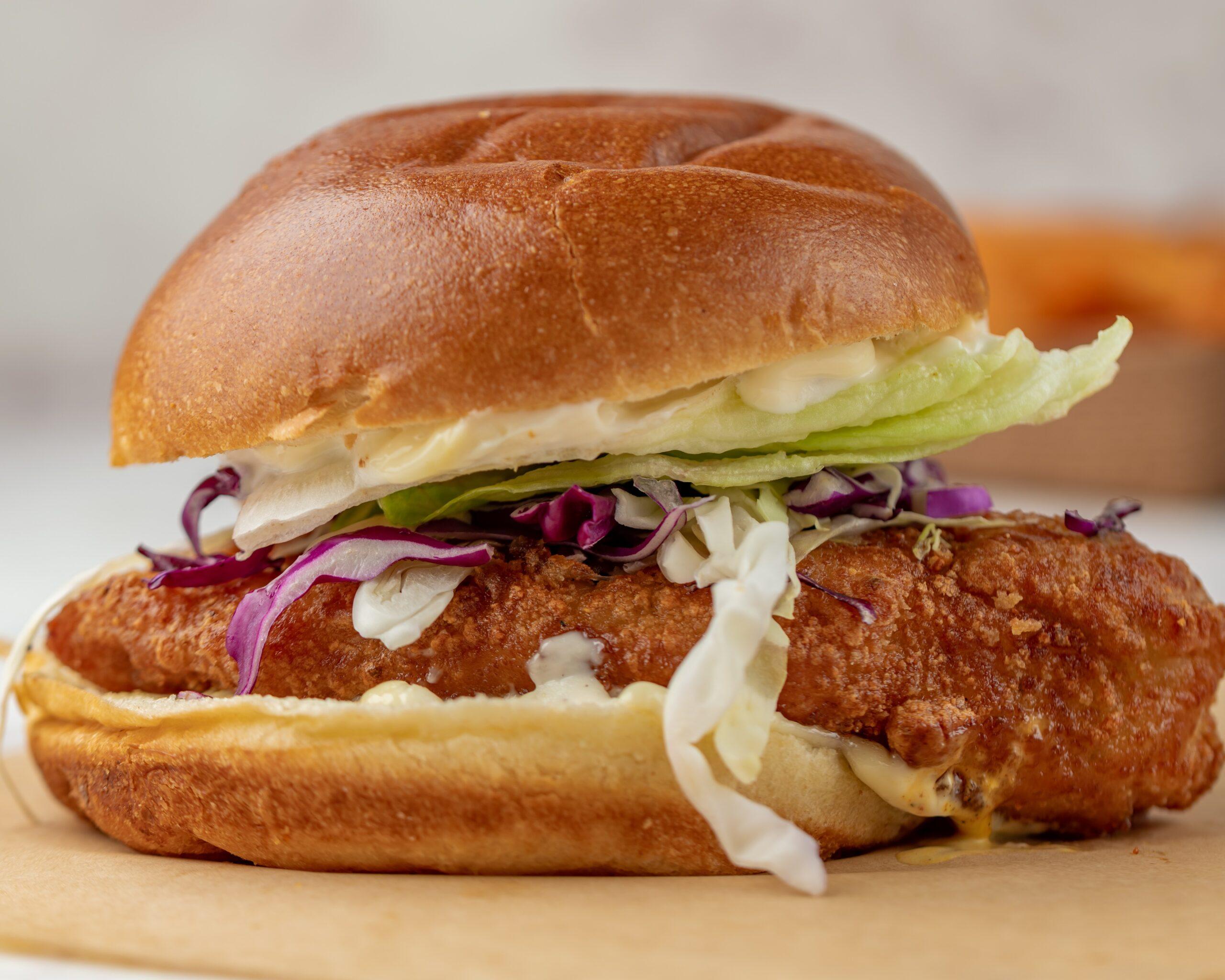 fried chicken sandwich burger
